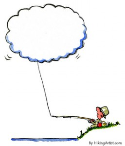 Fishing the Cloud Cartoon